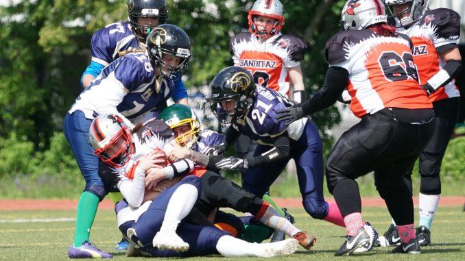 Mainz Golden Eagles gegen die Mannheim Banditaz im Hinspiel am 19.5.19 in Mainz